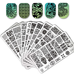 cheap Nail Care & Polish-10/20 pcs Lace stamping plate polish Nail art transfer template,1 square transparent stamp, Stamping Tool Template Flower / Animal Nail Art Design Fashionable Design Stylish