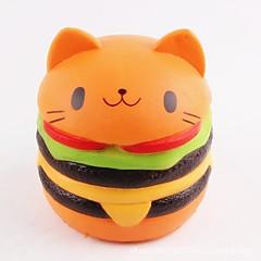 tanie Odstresowywacze-LT.Squishies / Squishy Zabawki do ściskania Okrągły Kot Hamburger Zabawki biurkowe Stres i niepokój Relief Zabawki dekompresyjne Zabawne
