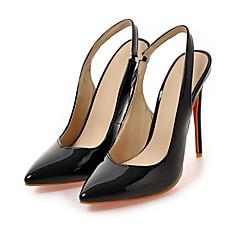 cheap Women's Heels-Women's PU(Polyurethane) Spring / Summer Comfort / Novelty Heels High Heel Pointed Toe White / Black / Almond / Wedding / Party & Evening / Party & Evening