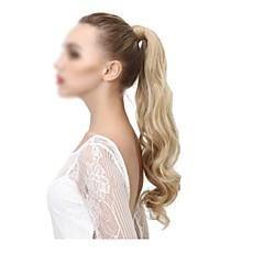 preiswerte Perücken & Haar Verlängerungen-Mit Clip Pferdeschwanz Umwickeln Echthaar Haarstück Haar-Verlängerung Wellen