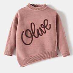 billige Sweaters og cardigans til babyer-Baby Pige Ensfarvet / Ord Langærmet Bomuld / Akryl Trøje og cardigan