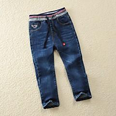 billige Drengebukser-Børn Drenge Ensfarvet Bukser Blå 140