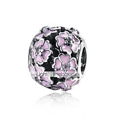 billige Perler og smykkemaking-DIY Smykker 1 stk Perler Sølv Hvit Rose Rosa Ball Blomst Perlene 0.9 cm DIY Halskjeder Armbånd