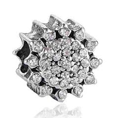 baratos Miçangas & Fabricação de Bijuterias-Jóias DIY 1 pçs Contas Imitações de Diamante Liga Branco Azul Flor Bead 0.2 cm faça você mesmo Colar Pulseiras