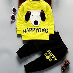 billiga Pojkkläder-Småbarn Pojkar Ledigt Dagligen Tryck Långärmad Modal / Polyester Klädesset Grå