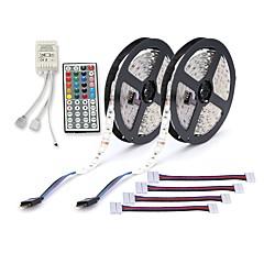 ZDM® 10 m Sady světel 300 LED diody 5050 SMD 2x 5M LED pásové světlo / 1 44Keys Remote Controller / 4 konektory R GB Ořezatelný / Samolepící 12 V 1 sada