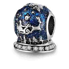 baratos Miçangas & Fabricação de Bijuterias-Jóias DIY 1 pçs Contas Liga Azul Real Cilindro Bead 0.5 cm faça você mesmo Colar Pulseiras
