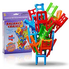 abordables -Blocs de Construction Jeux d'Empilage Jouets Equilibre Chaise Classique 18 Pièces Garçon Fille Noël Anniversaire Le Jour des enfants
