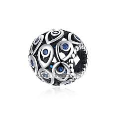 baratos Miçangas & Fabricação de Bijuterias-Jóias DIY 1 pçs Contas Prateado Roxo Azul Bola Bead 1.1 cm faça você mesmo Colar Pulseiras