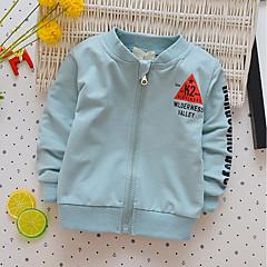 billige Hættetrøjer og sweatshirts til drenge-Baby / Spædbarn Drenge Simple Trykt mønster Langærmet Bomuld Bluse