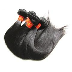 billige Remy fletninger af menneskehår-Jomfruhår Skudgarn / Hår vævning / Remy fletninger af menneskehår Til sorte kvinder Lige / Klassisk Brasiliansk hår / bundter 400 g 12 måneder Hverdag