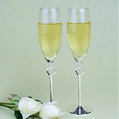 Χαμηλού Κόστους Ποτήρια Πρόποσης-Γυαλί Ψευδάργυρο κράμα Το ψήσιμο φλάουτα Κουτί Δώρου Γάμος Όλες οι εποχές