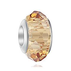 tanie Koraliki i tworzenie biżuterii-Biżuteria DIY 1 szt Korálky Kryształ Stop Coffee Light Green Nieregularny Koralik 0.5 cm majsterkowanie Naszyjniki Bransoletki