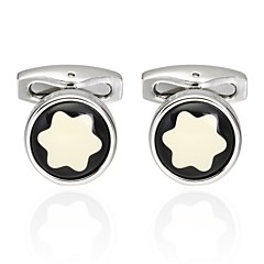 cheap Men's Jewelry-Snowflake Silver Cufflinks Classic Fashion Formal Office & Career Men's Costume Jewelry