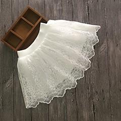 お買い得  女児 スカート-女の子 ソリッド コットン スカート 春 夏 活発的 ホワイト