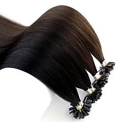 levne Příčesky z pravých vlasů-Fusion / U Tip Rozšíření lidský vlas Volný Remy vlasy Brazilské vlasy 1pack Dámské Halloween / Výročí / Narozeniny