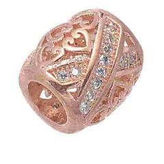 baratos Miçangas & Fabricação de Bijuterias-Jóias DIY 1 pçs Contas Imitações de Diamante Liga Prata Ouro Rose Cilindro Bead 0.5 cm faça você mesmo Colar Pulseiras