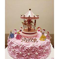 billige Kakedekorasjoner-Kakepynt Eventyr Tema Fantasi Bryllup Familie Venner Fødselsdag Dyr ABS Resin Bryllup Bursdag med شريط Stjerne 1 Gaveeske