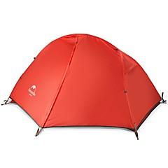 billige Telt og ly-Naturehike 1 person Telt Dobbelt Lagdelt camping Tent Utendørs Turtelt Regn-sikker / Fort Tørring / Vindtett til 2000-3000mm Oxfordstoff