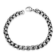 billige -Herre Kjeder & Lenkearmbånd , Mote Rustfritt Stål Geometrisk Form Smykker Gave Daglig Kostyme smykker