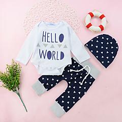 billige Sett med babyklær-Baby Pige Afslappet / Aktiv / Basale Ferie Geometrisk / Trykt mønster / Patchwork Langærmet Bomuld Tøjsæt