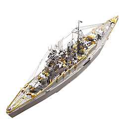 cheap -3D Puzzle Metal Puzzle Military Battleship Stainless Steel Metal 1pcs Boat Kid's Adults' Gift
