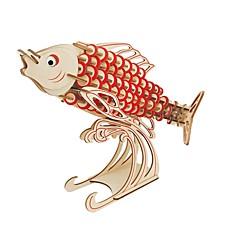 preiswerte -Holzpuzzle Logik & Puzzlespielsachen Mode Fische Tier Klassisch Mode Neues Design Profi Level Fokus Spielzeug Stress und Angst Relief