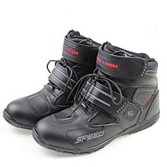 tanie Wyposażenie ochronne-buty motocyklowe skórzane odporne na zużycie i oddychające