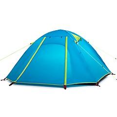 billige Telt og ly-Naturehike 3-4 personer Dobbelt camping Tent Ett Rom Turtelt Fort Tørring Vindtett Regn-sikker til 2000-3000 mm PU Nylon - 205*205*110 CM