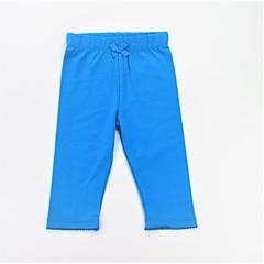 baratos Roupas de Meninas-Para Meninas Calças Diário Esportes Sólido Primavera Verão Algodão Simples Casual Azul Laranja
