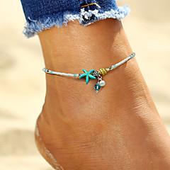ieftine Bijuterii pentru corp-Brățară Gleznă - Imitație de Perle Stea de mare, Scoică Boem, Modă, Boho Alb Pentru Concediu / Bikini / Pentru femei
