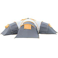 billige Telt og ly-FLYTOP 5-8 personer Telt Dobbelt camping Tent Tre Rom Familietelt Vanntett Vindtett Ultraviolet Motstandsdyktig Regn-sikker Sammenleggbar