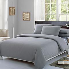 billiga Påslakan-Påslakan Sets Enfärgad Polyester / Bomull Blandning Färgat garn 4 delarBedding Sets