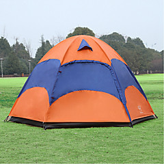 cheap Tents, Canopies & Shelters-Sheng yuan 3-4 persons Tent Double Camping Tent One Room Fold Tent Anti-Insect Oversized Breathability for Hiking Camping 1500-2000 mm