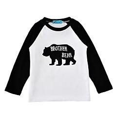 billige Pigetoppe-Baby Unisex Aktiv Daglig / Ferie Dyr Stilfuldt / Dyre Mønster Langærmet Normal Bomuld T-shirt Sort 100