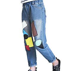 billige Bukser og leggings til piger-Børn Pige Simple / Afslappet Ensfarvet / Geometrisk Uden ærmer Bomuld Jeans