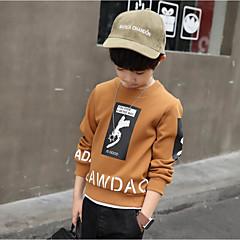 billige Hættetrøjer og sweatshirts til drenge-Børn Drenge Simple / Afslappet Sport Ensfarvet / Trykt mønster Langærmet Bomuld Hættetrøje og sweatshirt