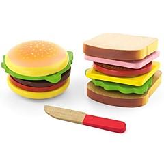 billiga Leksakskök och -mat-Familj Utsökt Föräldra-Barninteraktion Trä Barn Pojkar Flickor Leksaker Present