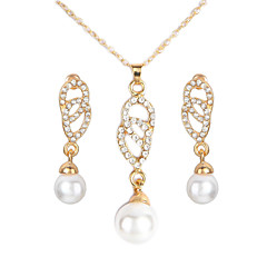 baratos Conjuntos de Bijuteria-Mulheres Conjunto de jóias - Infinidade Europeu, Fashion Incluir Dourado Para Diário / Brincos