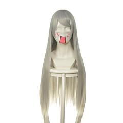tanie Peruki syntetyczne-Peruki syntetyczne Prosto Naturalna linia włosów Gęstość Bez czepka Damskie Szary cosplay peruka Bardzo długo Włosy syntetyczne