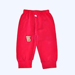 billige Bukser og leggings til piger-Baby Unisex Simple Daglig / Sport Ensfarvet Stilfuldt Langærmet Bomuld Bukser Lyserød