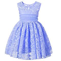 baratos Roupas de Meninas-Menina de Vestido Diário Para Noite Sólido Floral Primavera Verão Raiom Sem Manga Manga Curta Fofo Activo Rosa Azul Claro Lavanda