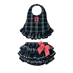 billige Sett med babyklær-Baby Pige Afslappet Ferie Ternet Sløjfer / Flettet Uden ærmer Bomuld Tøjsæt