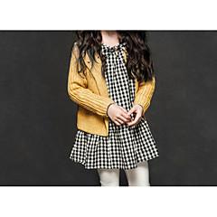 billige Sweaters og cardigans til piger-Baby Pige Simple / Aktiv Ferie Ensfarvet Langærmet Bomuld Trøje og cardigan