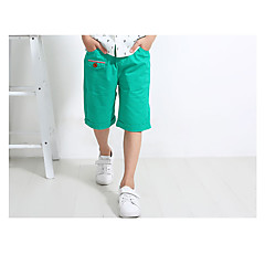 billige Drengebukser-Børn Drenge Simple / Vintage Daglig Ensfarvet Vintage Stil Uden ærmer Bomuld / Hør / Bambus Fiber Shorts Grøn