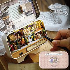 Χαμηλού Κόστους Κουκλόσπιτα-In A Happy Corner 3D Wooden DIY Handmade Box Πανέμορφος Κλασσικό Θέμα Κουτί Klasika Κομμάτια Κοριτσίστικα Παιδικά Δώρο