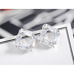 cheap Earrings-Women's Cubic Zirconia Geometric Stud Earrings - Simple, European, Fashion Gold / Silver For Birthday / Party / Evening