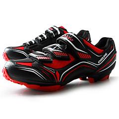 billige Sykkelsko-Tiebao® Mountain Bike-sko Karbonfiber Anti-Skli, Anvendelig, Pusteevne Sykling Svart / Rød Herre