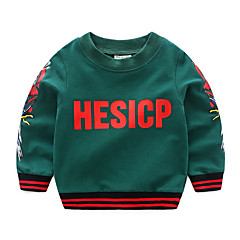 billige Hættetrøjer og sweatshirts til drenge-Baby Drenge Aktiv Trykt mønster Langærmet Hættetrøje og sweatshirt