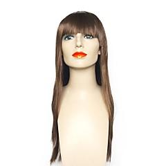 tanie Peruki syntetyczne-Peruki syntetyczne Prosto Fryzura Bob Termoodporny Naturalna linia włosów Brązowy Damskie Bez czepka Halloween Wig Celebrity Wig Peruka